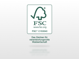 FSC Siegel Mix OutNature Silphie-Papier zertifiziert